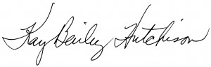 Signature of Kay Bailey Hutchison